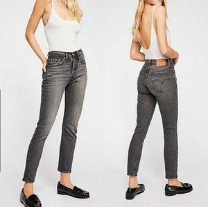 Levi's Wedgie High Rise 501 Skinny Jeans